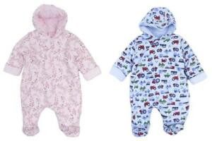 331634847405 Baby Snowsuit All In One Soft Cotton Jersey Boys and Girls Newborn 0 ...