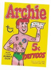 Archie  Bubble Gum Tattoos Retro Vintage HQ  Fridge Magnet