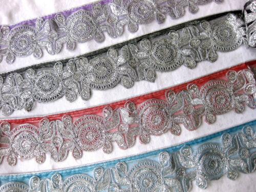 Borte mit Pailletten in verschieden Farben,ca.70mm,lfm,B87
