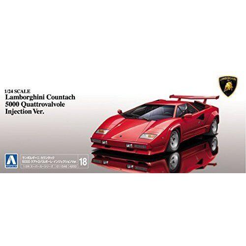 Aoshima 1//24 Super Car Series No.18 Lamborghini Countach 5000qv /'88 Model Kit