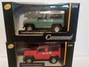Double-Set-Land-Rover-Defender-X2-Metal-Model-Cararama-1-43-Scale-Car
