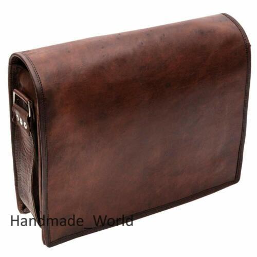 Vintage Leather Messenger Bags Laptop Briefcase Co