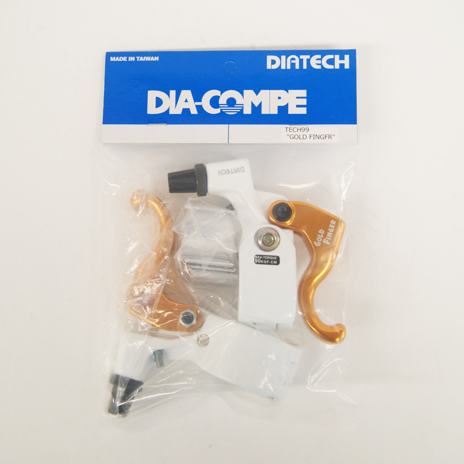 DIA-COMPE TECH99 gold FINGER Brake Lever Left & Right (Pair) White x gold