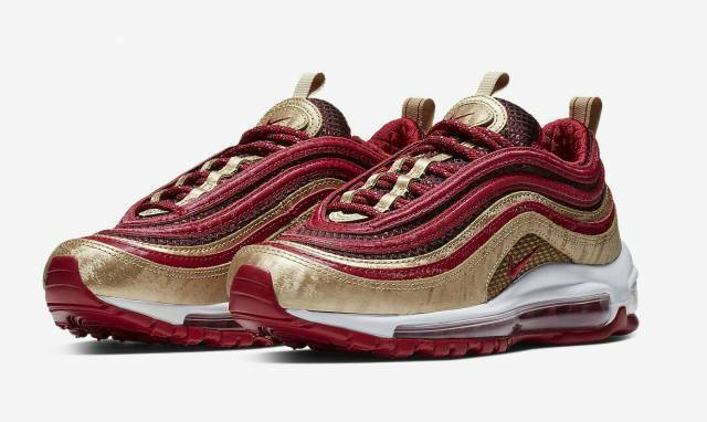pretty nice 03850 045e0 Nike Air Max 97 QS (qs) Running Shoes Size 6y Noble Red Style Bq4429 600