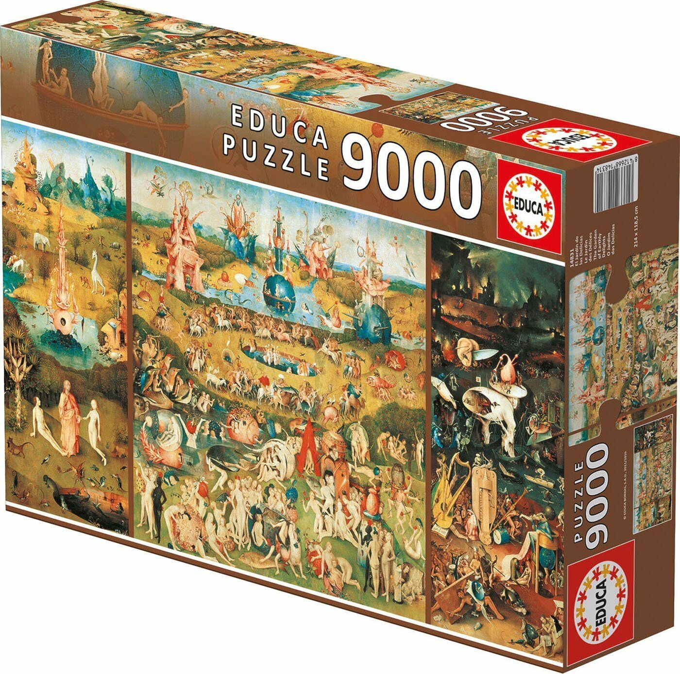 Educa 14831. El Garden of the delights. Puzzle of 9000 parts. 214x119cm