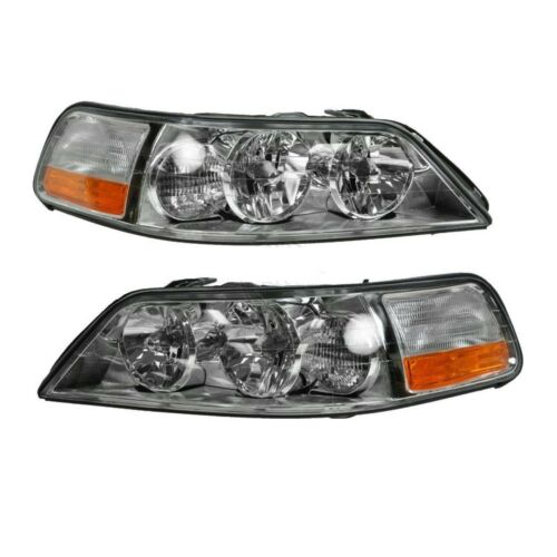 2005-2011 Lincoln Town Car Headlights Headlamps Replacement 05-11 Set Left+Righ