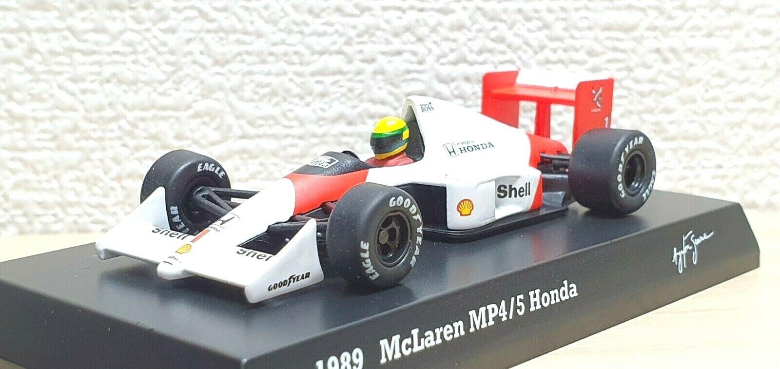 1 64 Kyosho F1 Ayrton Senna Collection HONDA MCLAREN MP4 5  1 diecast car model