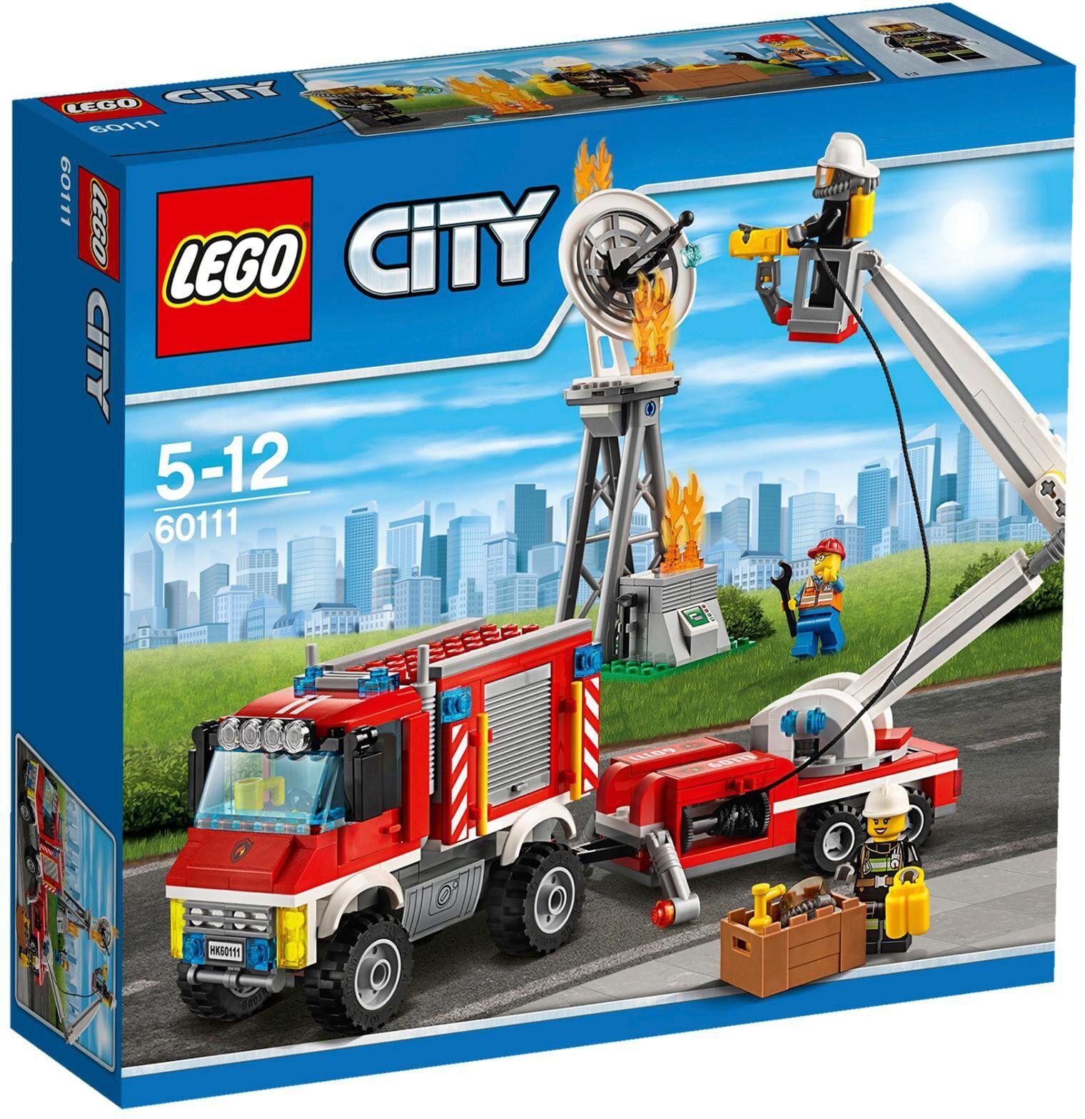LEGO CITY CAMIÓN DE BOMBEROS POLIVALENTE 60111 - NUEVO, PRECINTADO SIN ABRIR.