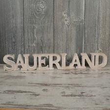 Sauerland Schriftzug aus Holz 60cm braun Buchstaben Wanddeko Holzschild NEU