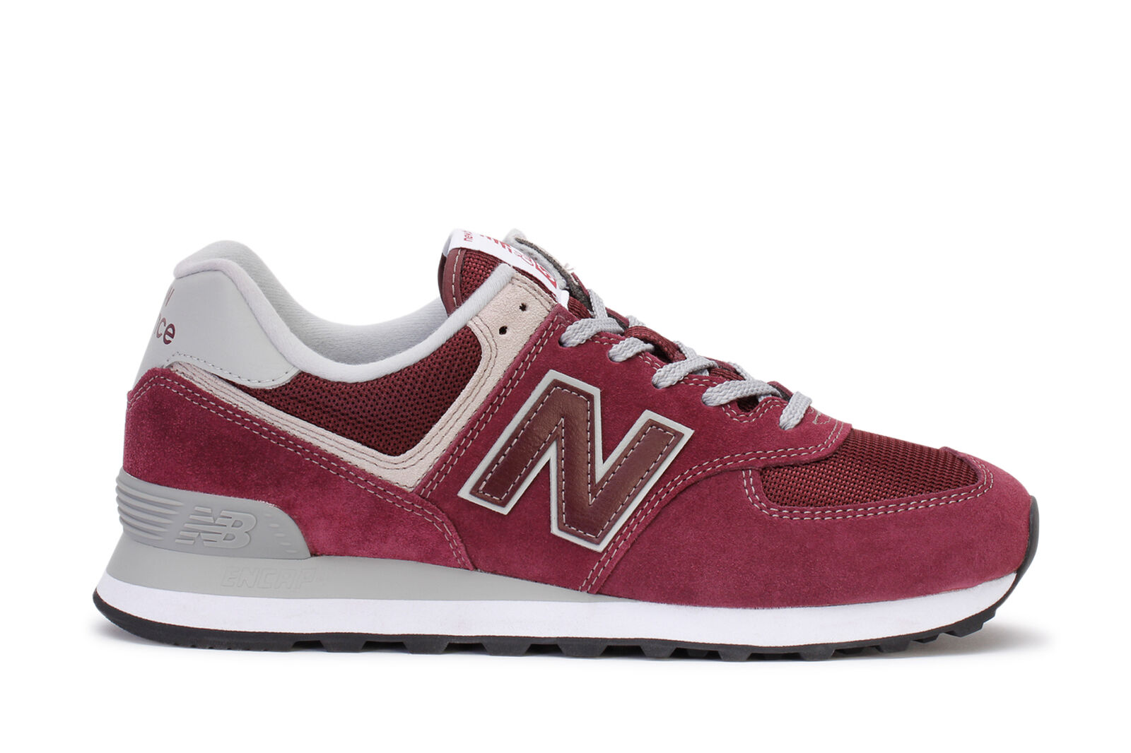 New Balance Homme Running Sneakers 2018 Classic Burgundy ML574EGB