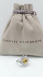 David Yurman Sterling Silver Starburst w/Citrine size  5.5