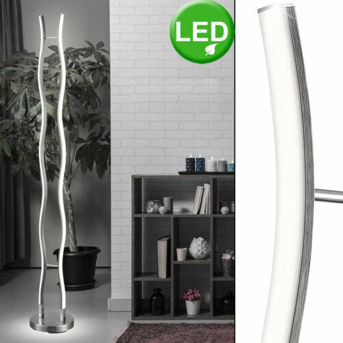 LED Steh Lampe Wellen Design Wohn Zimmer Beleuchtung Chrom Leuchte geschwungen