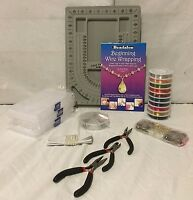 Wire Wrapping Tools Jewelry Making Kit Set Supplies, Book, Pliers, Chain, Memory