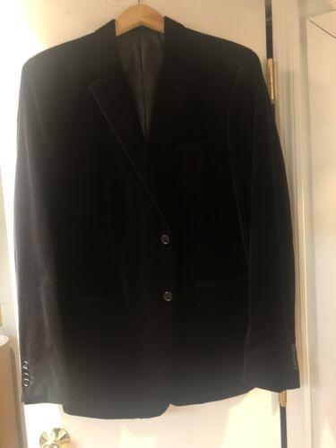 Theory Men's Size 42 Velvet Black Jacket Blazer