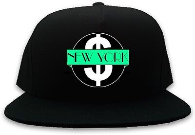 Kings Of NY Mint Money New York Logo Snapback Hat Baseball Cap One Size Black