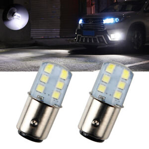 2x 1157 BAY15D White Led Car Strobe Tail Light BAY15D Led Brake Strobe Lamp