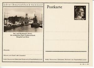 German-Reich-Stationery-P-304-Memel-Harbor-Ships
