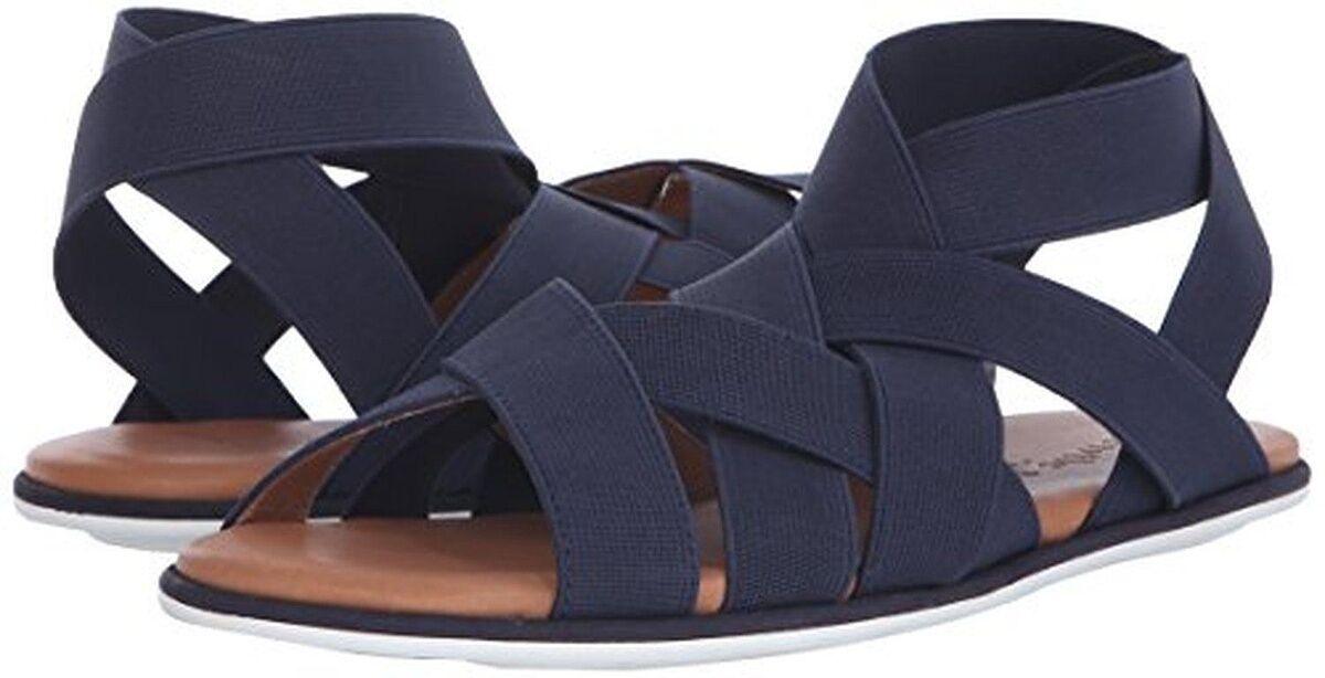 Gentle Souls Bari Navy Elastic Slip-on Sandal donna Dimensione 6.5 NEW