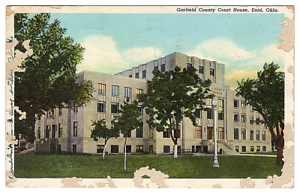 Vintage-Postcard-Garfield-County-Court-House-Enid-Oklahoma-J21A