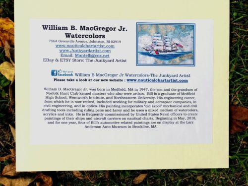 BATH IRON WORKS SHIPYARD ART PRINT BIW yard gift Zumwalt destroyer Navy Maine ME