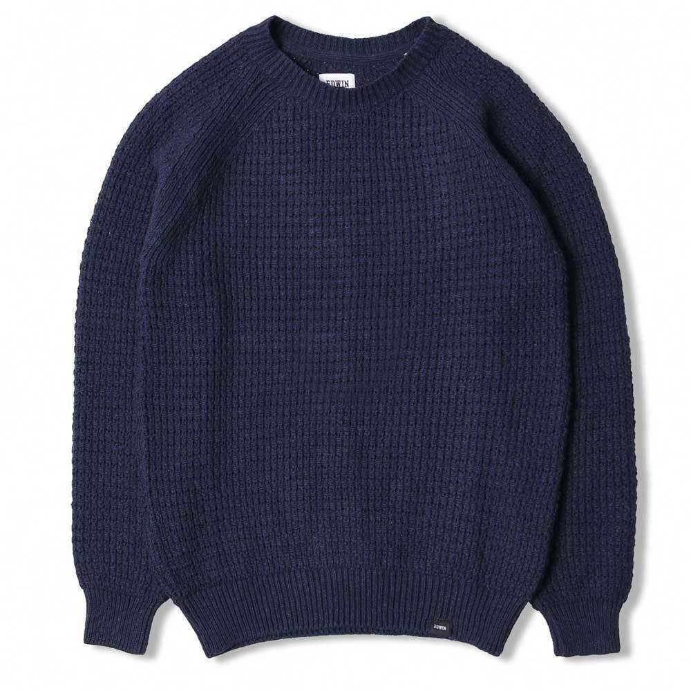 Edwin Purl Sweater - Navy