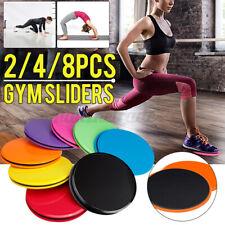 4 Paar Fitness Bodengleiter Gleitscheiben Discs Doppelseitig Sport Training