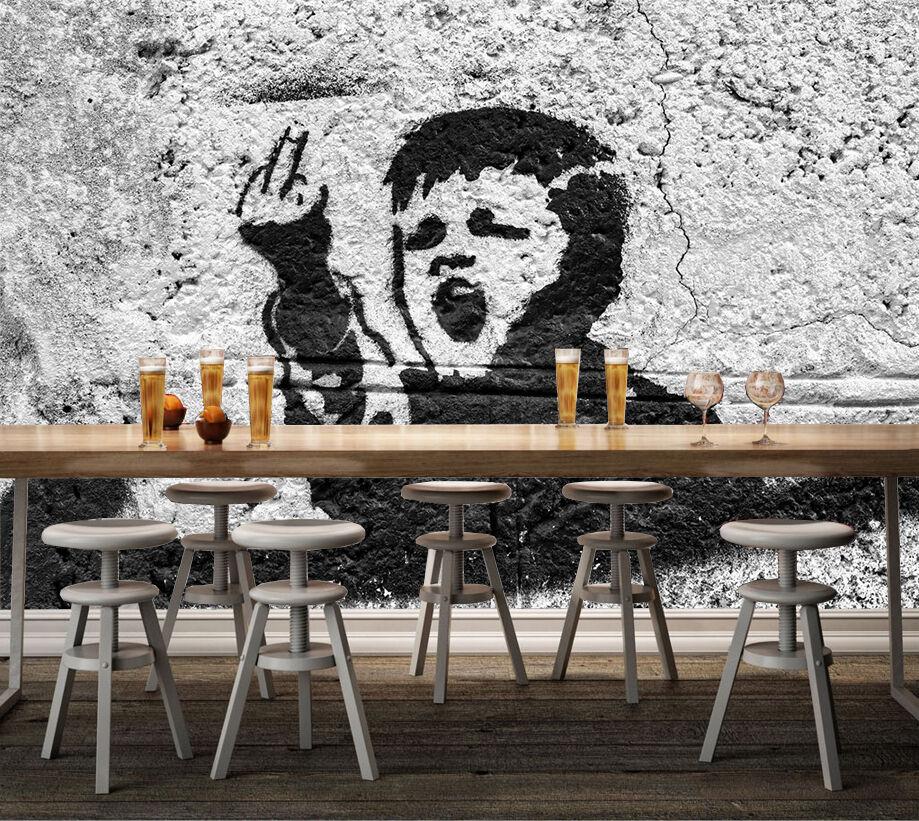 3D Middle Finger Boy 717 Wallpaper Mural Paper Wall Print Wallpaper Murals UK