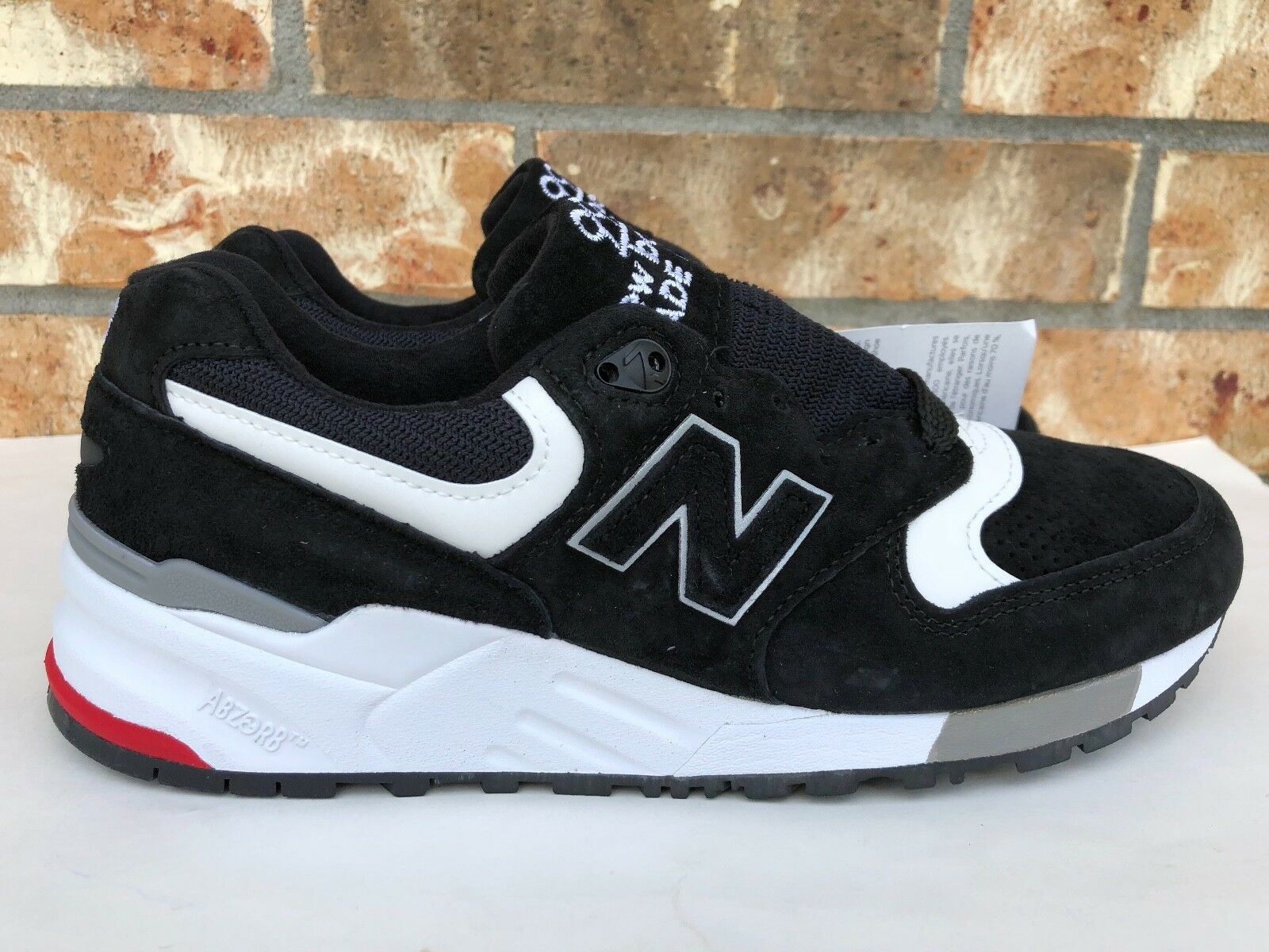 Men's New Balance 999 Made In USA Running shoes Black White Red Size 6 M999CRK