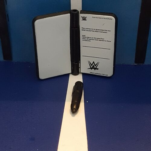 Accessories for WWE Wrestling Figures Contract /& Pen Mattel Contract Chaos