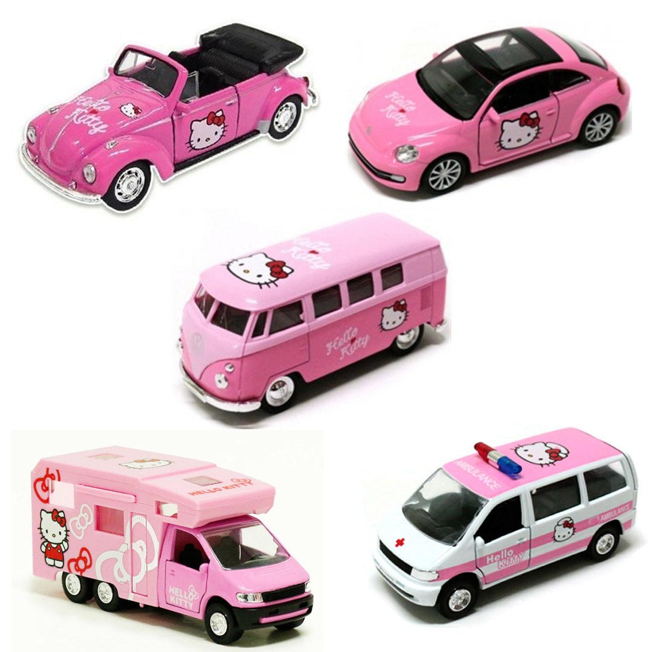 Hello Kitty Mini Coche 5 un. Set Coche Clásico Figura Juguete para Niños Niños