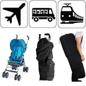 Check Gate Pram Travel Bag Stroller Pushchair Portable Waterproof Buggy Cover 12