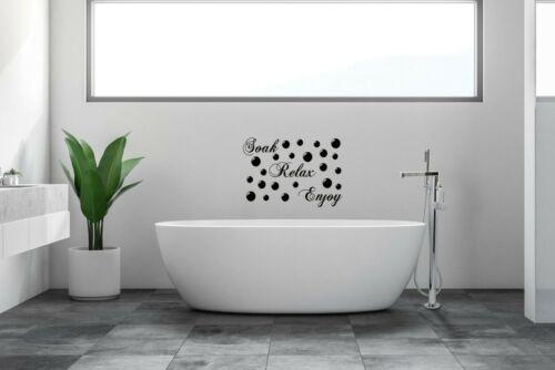 BATHROOM Sticker Soak Relax Enjoy Quote Wall Art DIY