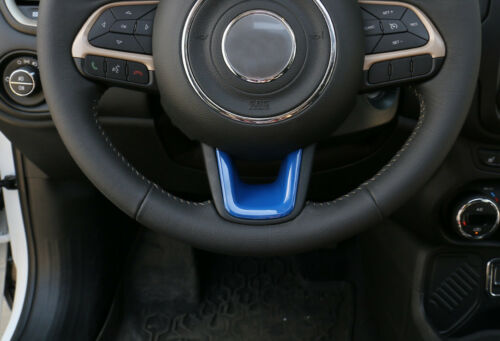 ABS Steering Wheel Trim Cover-Blue Fit for Jeep Renegade 2015-20 Compass 2017-20