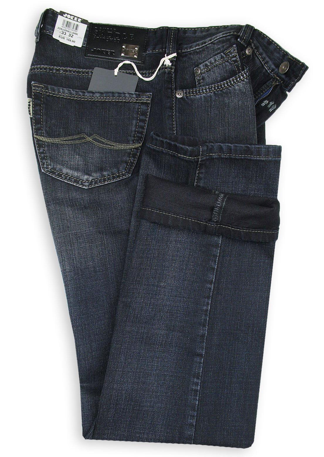 JOKER Jeans   Clark 2253 259 ( Comfort Fit Fit Fit ) schwarz Blau sanded 8f7af8