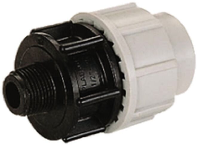 Plasson Male Adaptor- 20mm x 1 2  to 110mm x 4