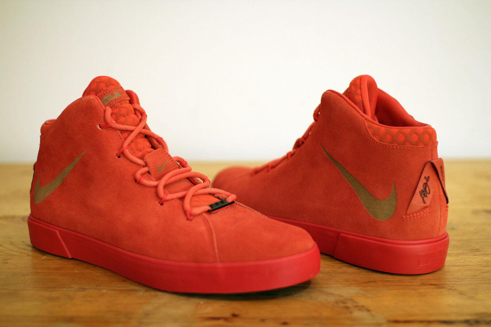 Nike Lebron XII NSW Lifestyle QS rojo Talla 41 UK 7 NEW & OVP Jordan