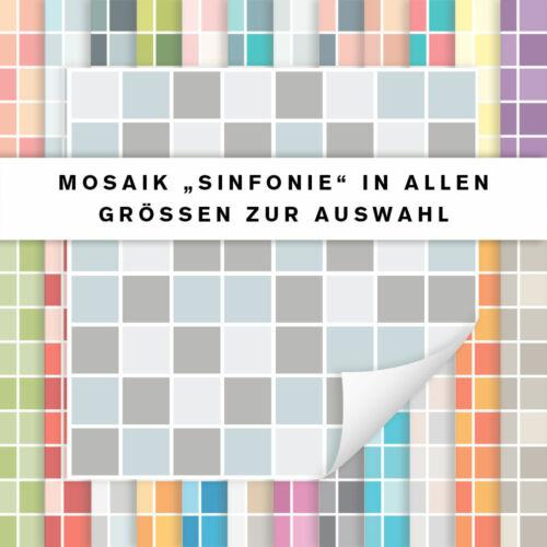 Fliesenaufkleber Mosaik SinfonieFliesensticker Küche Badalle Größen