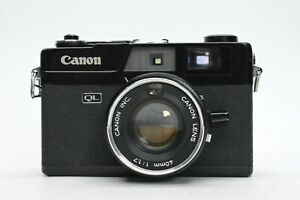 [EXC READ] Canon Canonet QL17 35mm Rangefinder black body Japan #2761