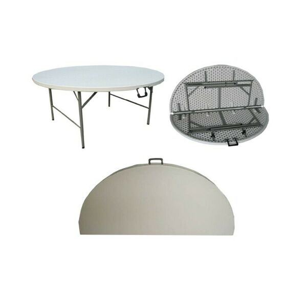 Round Folding Tables Plastic Fold Up, Fold Up Round Table