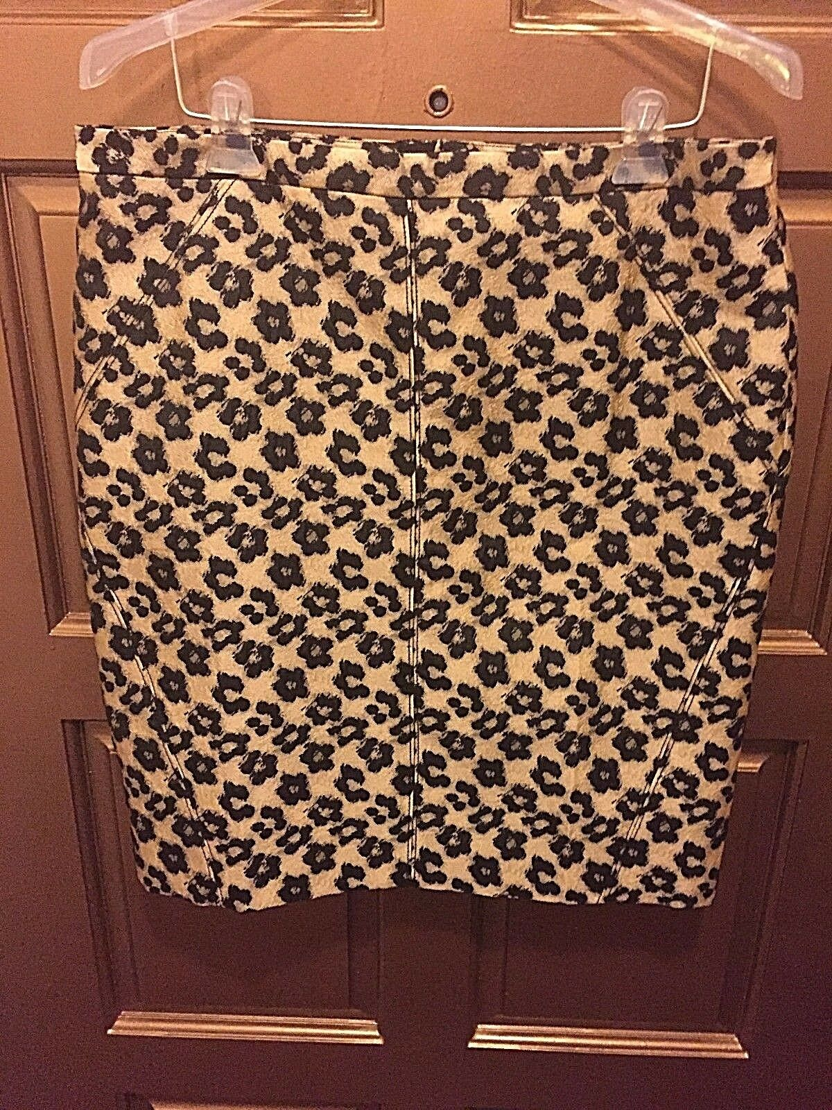 Ann Taylor Animal Print Polyester Blend Pencil Skirt NWT - Size 14