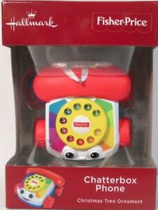 Details about HALLMARK 2018 FISHER PRICE CHATTERBOX PHONE CHRISTMAS  ORNAMENT RED BOX ~ NIB! *