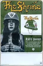 THE SHRINE Rare Breed 2016 Ltd Ed RARE New Poster +FREE Metal Rock Punk Poster!