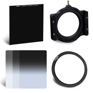 """82 mm Adapter Ring&Holder&4""""x 4"""" Glass 10-Stop ND1000&4x6in. ND 2/4/8 Kit"""