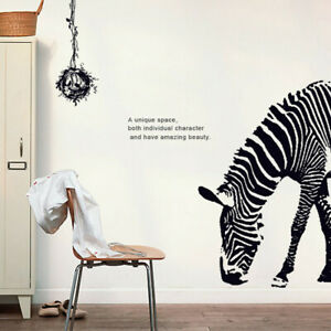 Details about Zebra Wall Sticker 3D Decal Wallpaper Decals Decoration  Living Room Bedroom