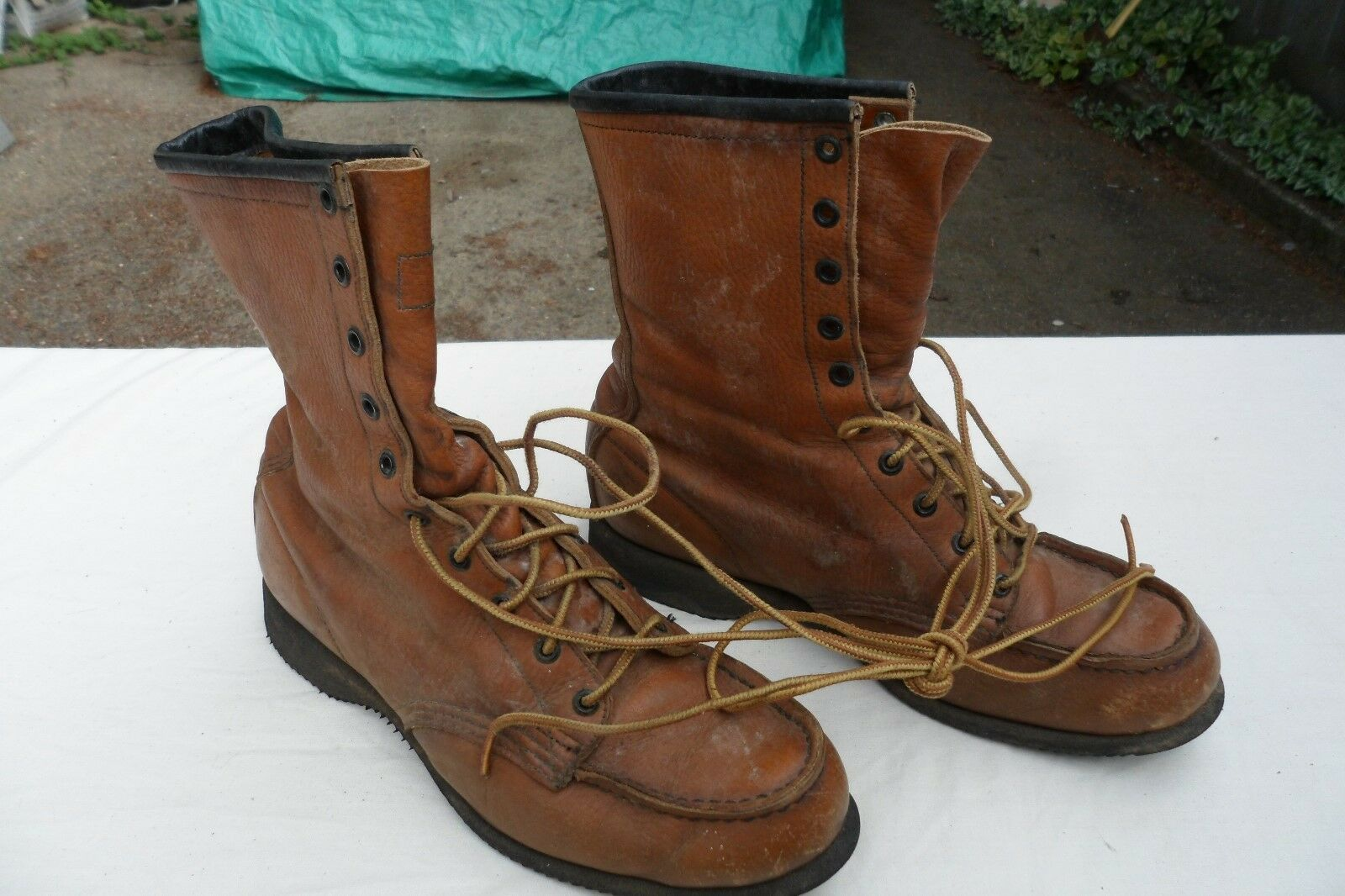 Vtg 1960's?~ Rosso Wing  moc toe?  Boots sz. 7.5 C style 29046?