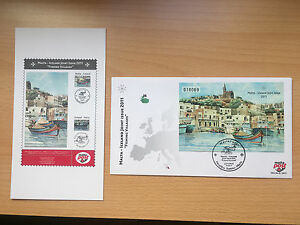 First Day Cover With Set Iceland Malta 2011 Joint Issue + brochure