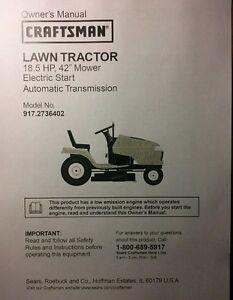 craftsman lawn mower 917 manual
