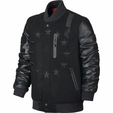 Nike Air Mens Destroyer 92 Varsity Jacket Black Wool Leather