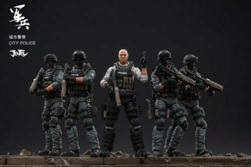 Joy Toy 1//18 Urban Police Riot Prevention Police Force Figure Set New