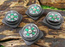 4 X 2CM SURVIVAL BUTTON COMPASS BUSHCRAFT PARACORD BRACELETS MILITARY E & E